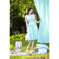 Đầm xinh tôn dáng ngọc vải nhập giá rẻ tháng 9 DV330