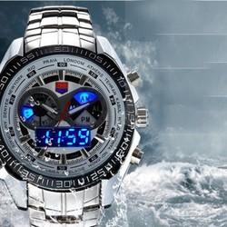 Đồng hồ kết hợp bảng hiển thị đèn LED nam tính AL02 ,