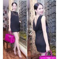 Đầm xinh tôn dáng ngọc vải nhập giá rẻ tháng 9 DV331