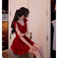 Đầm xòe vai nơ 11922