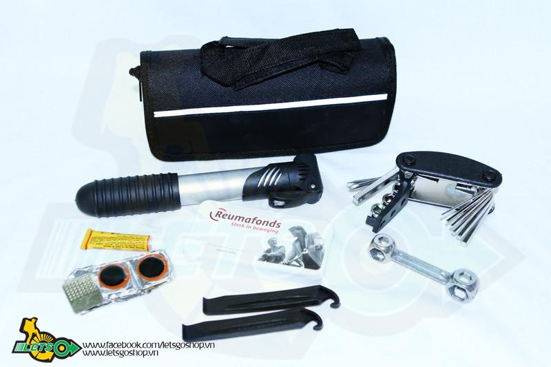 Bộ túi kẹp sườn, vá xe, có ống bơm Sahoo 1