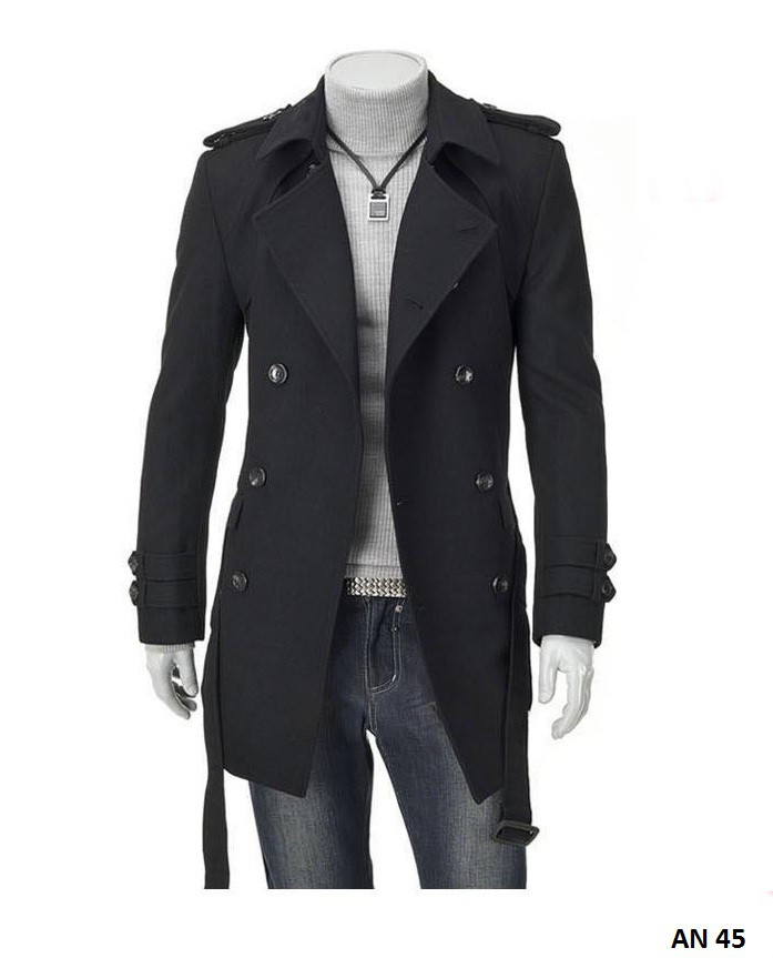 Áo khoác dạ nam lót lông AN45 1