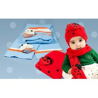 Combo nón len và khoăn choàng len