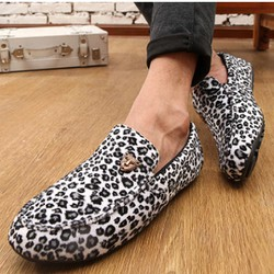 Giày mọi nam da beo cá tính Mã: GH0151 - TRẮNG