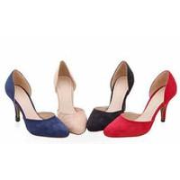 Giày cao gót da lộn cực êm - VNXK