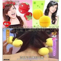 TC019x2 - Combo 12 dụng cụ quấn tóc xoăn hình tròn, trái dâu
