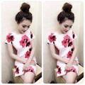 Đầm suông họa tiết hoa