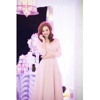 Đầm xòe Minh Hằng đi tiệc trẻ trung quyến rũ DV347