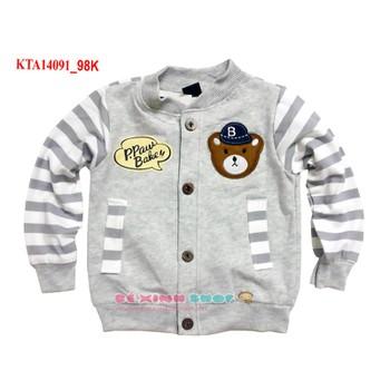 Áo khoác cotton con gấu dễ thương cho bé trai
