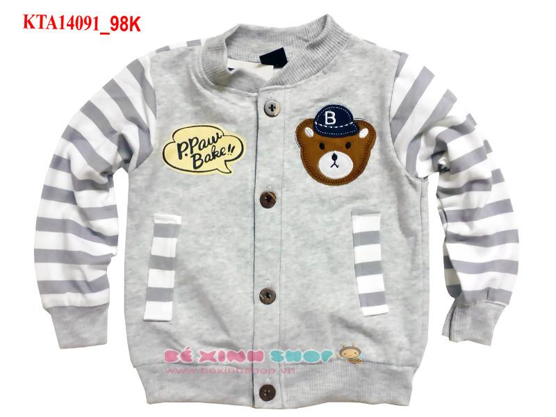 Áo khoác cotton con gấu dễ thương cho bé trai 3