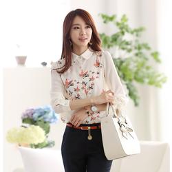 Áo kiểu họa tiết dài tay cực đẹp SM78