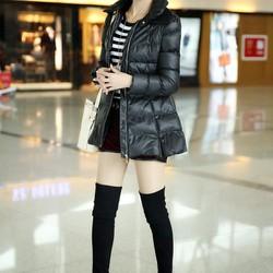 Áo khoác lông vũ dáng dài cao cấp Hàn Quốc y hình H023