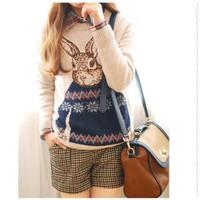 Áo len họa tiết con thỏ - DMK023