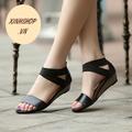 Giày sandal quai da đế gỗ cá tính - SG0031