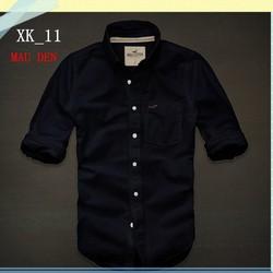 Có Size Lớn_Áo sơ mi Holister hàng xuất khẩu XK_11 den