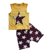 Đồ bộ cotton ngôi sao mặc nhà dễ thương cho bé trai BCT