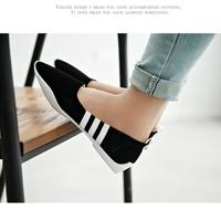 Giày búp bê HQuốc sọc trắng thời trang - XS0015