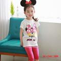 Bộ thun CARTER Minnie Mouse áo trắng bé gái hàng VN từ 1 - 7 tuổi