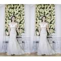 THỜI TRANG VÀO THU : Đầm ren cô dâu trễ vai quyến rũ DM57