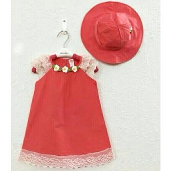 Đầm bé gái kèm mũ