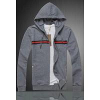 Áo Khoác nam sọc ngực - KB012 xám