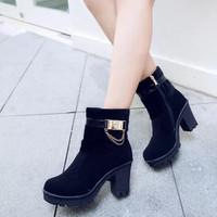 Giày boot cổ long cao cấp G-162