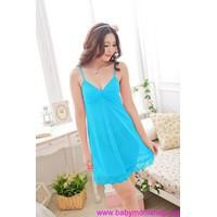 Đầm ngủ 2 dây chất liệu voan thoáng mát màu sắc quyến rũ DNL172