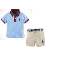 Bộ áo thun quần sooc Polo cho bé trai