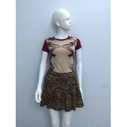 Váy xòe da beo cá tính V005