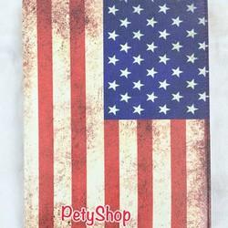 Bao da Vintage xoay Lá cờ iPad 2 iPad 3 iPad 4