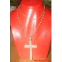 Dây chuyền mặc đầm dự tiệc chữ thập thánh giá đính hạt DC7