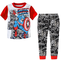 Bộ ngủ Captain America thun cotton cao cấp cho bé