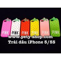 Ốp lưng trái dâu Pink iPhone 5 iPhone 5S
