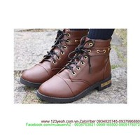 Giày da oxford nữ thắt dây tag gót cực sành điệu GUBB21