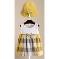 Đầm bé gái phong cách burberry kèm nón như hình