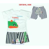 Bộ áo hình cá voi phối quần sọc cho bé trai