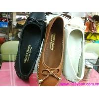 Giày mọi nữ da cao cấp đủ màu đủ size mấu mới ra tháng 9 GM90