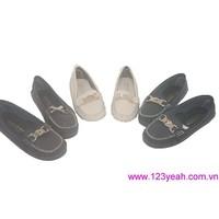 Giày mọi nữ da cao cấp đủ màu đủ size mấu mới ra tháng 9 GM99