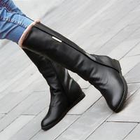 Giày boot lót lông cổ cao