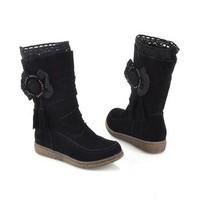 Giày boot cổ cao đính hoa B07