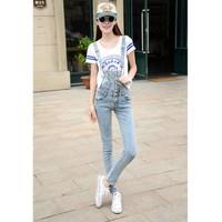 Quần jeans yếm nhiều nút Mã: QD401