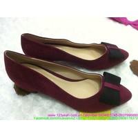Giày cao gót phối nơ xinh xắn sành điệu GCG62