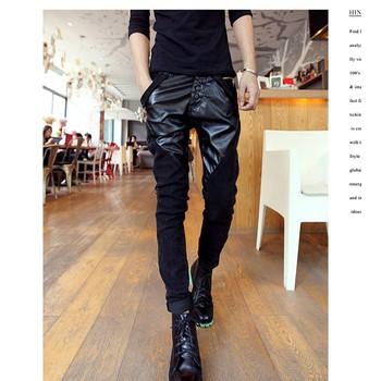Quần jeans nam phối da Mã: ND0321