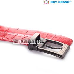 Thắt lưng nữ da cá sấu Huy Hoàng màu đỏ