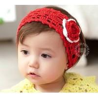 Băng đô len hoa cho bé gái_Đỏ, Hồng, Vàng