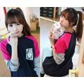 Áo thun dài tay logo hình bé gái dễ thương-A969
