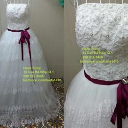 Áo cưới đai eo