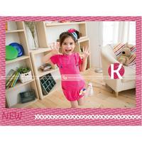 Váy kiểu hồng sen hoa cúc cho bé gái nét dịu dàng