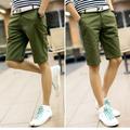 Quần kaki nam short màu xanh lính phong cách trẻ trung, cá tính