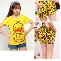 Bộ quần áo nữ in vịt B.Duck cực kute  - set 649